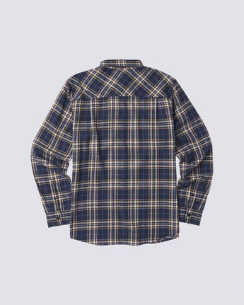 1 Medford Long Sleeve Flannel Shirt Blue M5643EME Element