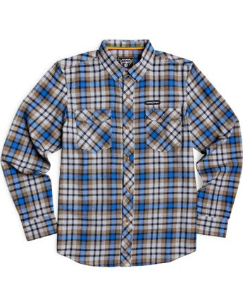 1 Human Rights Long Sleeve Flannel Shirt Blue M5683EHU Element