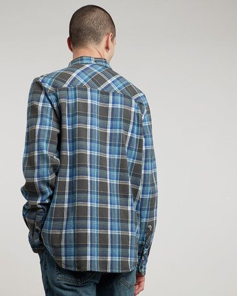 2 Buffalo Long Sleeve Flannel Shirt Grey M572QEBU Element