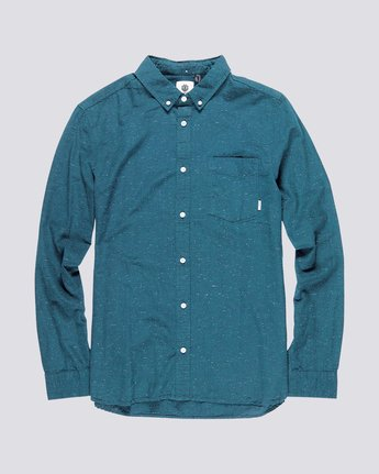 1 Greene Neps Long Sleeve Shirt Blue M574QEGN Element