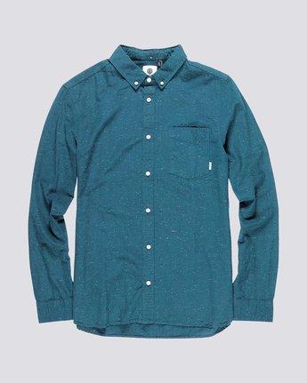 0 Greene Neps Long Sleeve Shirt Blue M574QEGN Element