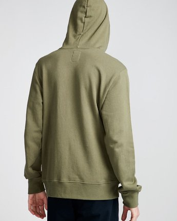 3 Cornell French Terry Pullover Hoodie Green M606TECF Element