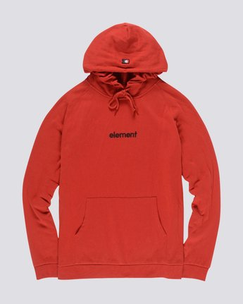 1 Big Hood French Terry Pullover Hoodie Red M609TEBF Element