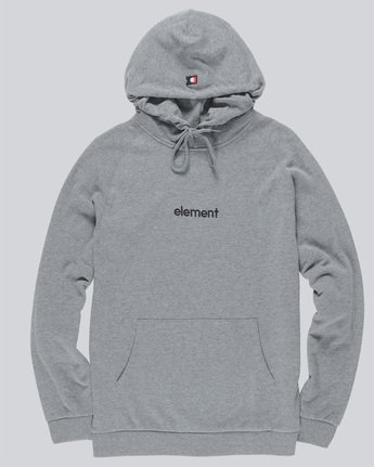 0 Big Hood French Terry Pullover Hoodie Grey M609TEBF Element