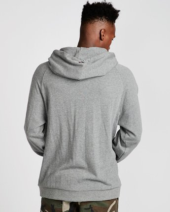 3 Big Hood French Terry Pullover Hoodie Grey M609TEBF Element