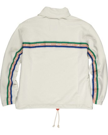 3 Element by Nigel Cabourn Quater Zip Pop Track Jacket White M6111ECQ Element