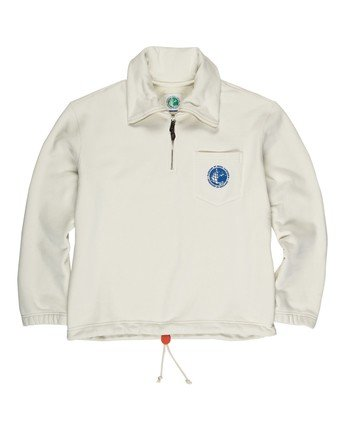 2 Element by Nigel Cabourn Quater Zip Pop Track Jacket White M6111ECQ Element