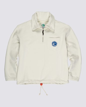 0 Element by Nigel Cabourn Quater Zip Pop Track Jacket White M6111ECQ Element