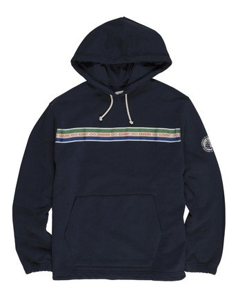 1 Element by Nigel Cabourn Cricket Pigment Hoodie Blue M6121ECH Element