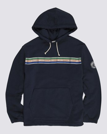 0 Element by Nigel Cabourn Cricket Pigment Hoodie Blue M6121ECH Element