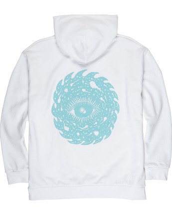 3 Space Typhoon Pullover Hoodie White M6172ESP Element