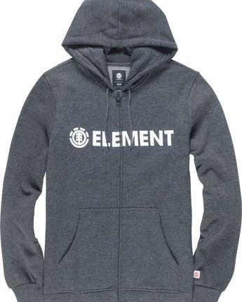 1 BLAZIN ZIP HOOD Grey M635QEBZ Element