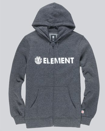 0 BLAZIN ZIP HOOD Grey M635QEBZ Element