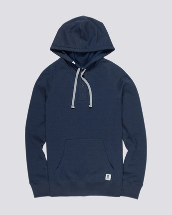 0 Horizontal Henley Hoodie Purple M635VEHH Element