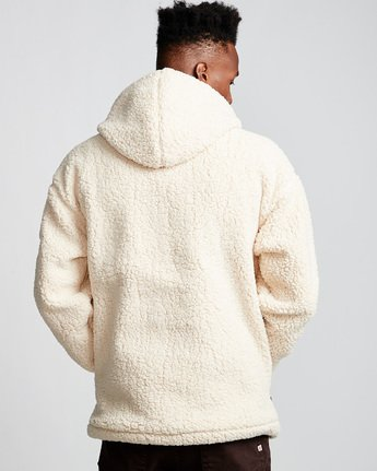 3 Big Shearling Hoodie White M642WEBS Element