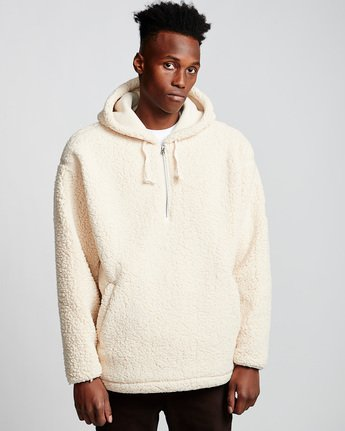 1 Big Shearling Hoodie White M642WEBS Element