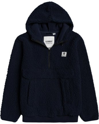 1 Faroe Qtr-Zip Fleece Pullover Blue M6483EFA Element