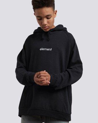 1 Big Hood Pullover Hoodie Black M657QEBH Element