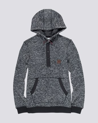 4 Highland Henley Hoodie Black M659QEHH Element