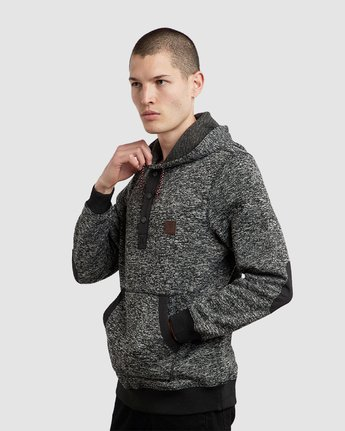 7 Highland Henley Hoodie Black M659QEHH Element