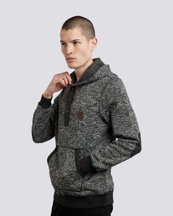 3 Highland Henley Hoodie Black M659QEHH Element