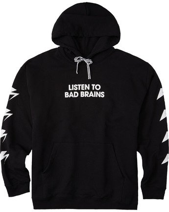 3 Listen to Bad Brains Hoodie Blue M6623ELB Element