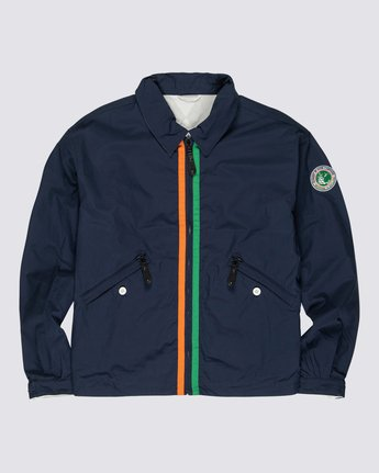 0 Element by Nigel Cabourn Reversible Cricket Coach Jacket Blue M7251ERC Element