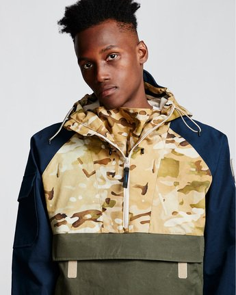3 Vertically Basic Po Jacket Green M731VEGF Element