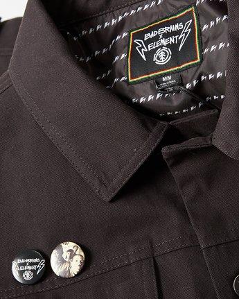 1 Bad Brains Brainstorm Trucker Jacket Blue M7341EBR Element
