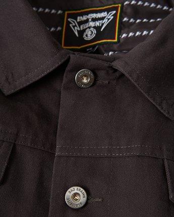 4 Bad Brains Brainstorm Trucker Jacket Blue M7341EBR Element