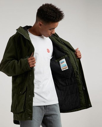 3 Cooper Jacket Green M735QERP Element
