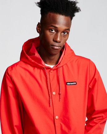 2 Primo Alder Coach Jacket Red M771VEPC Element