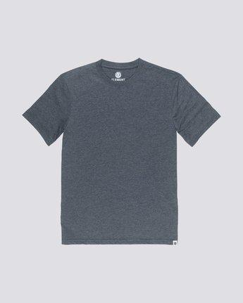 0 Basic Emby Crew T-Shirt Grey M918QEBS Element