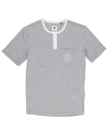 1 Vidock Short Sleeve Henley Tee  M924SEVD Element
