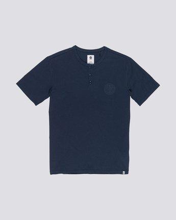 0 Vidock Short Sleeve Henley Tee Blue M924SEVD Element