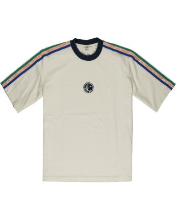 2 Element by Nigel Cabourn Big Sports Taped Crew Tee White M9301EBS Element