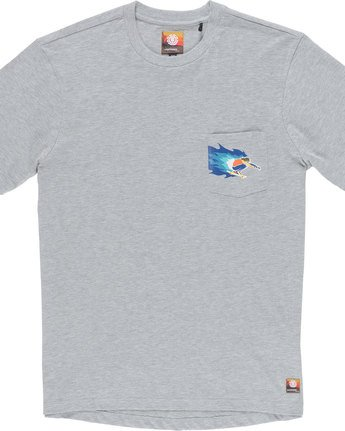 4 Hoffman T-Shirt Grey M938TEHT Element