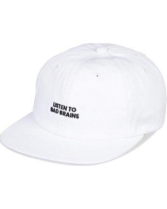 3 Bad Brains Motto Hat White MAHT3EBM Element
