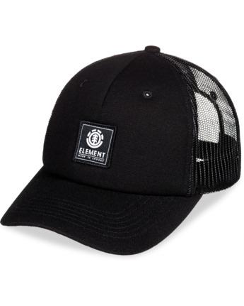 6 Icon Trucker Hat Black MAHT3EIC Element