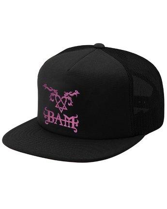 1 Bam Heartagram Hat Black MAHTSEBH Element