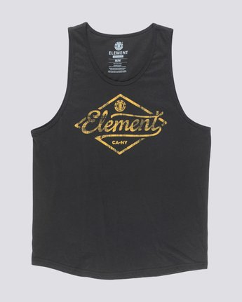0 Rhomb Tank Top Black MT90TERH Element