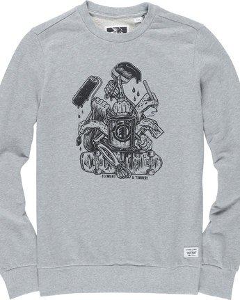 4 By Hand Crew - Fleece for Men Grey N1CRB4ELP9 Element
