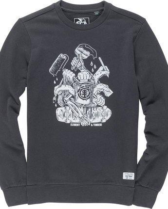 4 By Hand Crew - Fleece for Men Black N1CRB4ELP9 Element