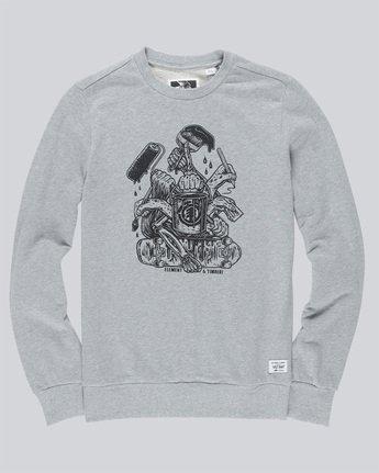 3 By Hand Crew - Fleece for Men Grey N1CRB4ELP9 Element