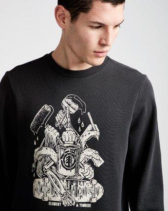 1 By Hand Crew - Fleece for Men Black N1CRB4ELP9 Element