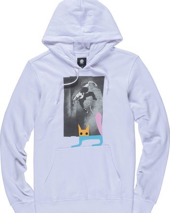 4 Jaakko Cat Po Hood - Fleece for Men White N1HOC1ELP9 Element