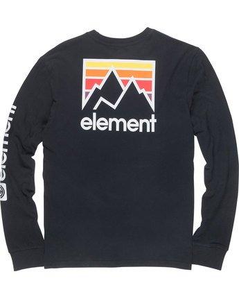 6 Joint Ls - Tee Shirt for Men Black N1LSA4ELP9 Element
