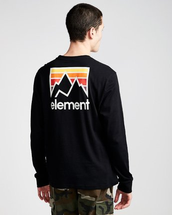 2 Joint Ls - Tee Shirt for Men Black N1LSA4ELP9 Element