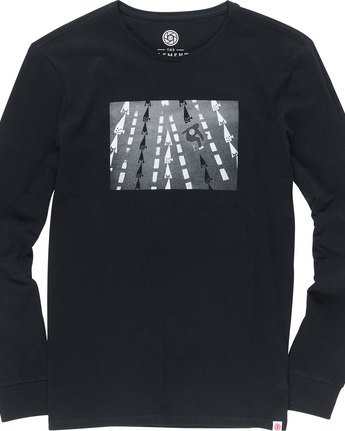6 Nassim Ls - Tee Shirt for Men Black N1LSA8ELP9 Element