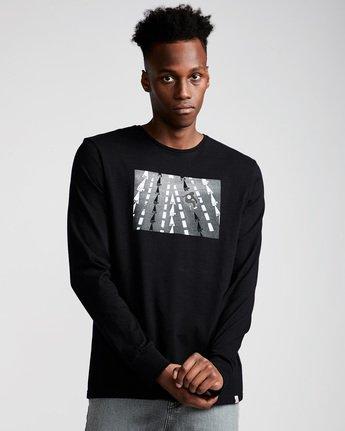 0 Nassim Ls - Tee Shirt for Men Black N1LSA8ELP9 Element